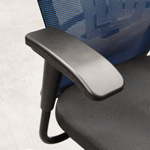 Height adjustable plastic arm of Saya office chair